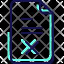 Document Delete Fitness Icon