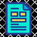 Paper Page File Icon