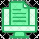 Monitor Document Report Icon