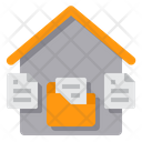 Working At Home Document Files Icon