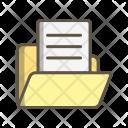 Document In Folder Icon