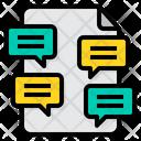 Document Speech Bubble Question Icon