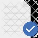Document Sheet Success Mark Icon