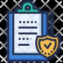 Document Clipboard Shield Icon