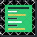 Document Left Alignment Icon