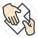Document Send Hands Icon