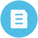 Document Text Sheet Icon