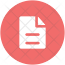 Document Sheet Text Icon