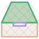 Document Box Drawers Icon