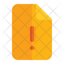Alert Warning Document Icon