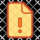 Alert Warning Document Icon