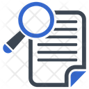 Document Exam Magnifier Icon