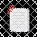 Attach Files Document Icon
