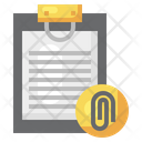 Document Attachment Paper Clip Office Material Icon