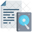Document Backup Hard Drive Note Icon