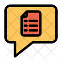 Document Chat Message Icon