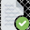 Document Check File Icon