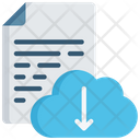Document Cloud Download Icon