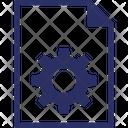 Document Cog File Cog File Optimized Icon