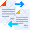 Document Data Sharing Data Exchange Data Share Icon