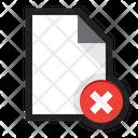 Document delete Icon