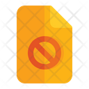 Deny Denied Document Icon