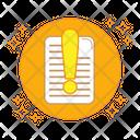 Document Error File Error Paper Icon
