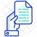 Document In Hand Icon