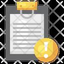 Document Information Document Error Information Icon