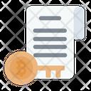 Document Key Log Cryptocurrency Icon