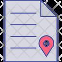 Paper Destination Paper Location Paper Navigation Icon