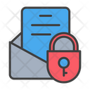 Document Lock File Lock Secure Report Icon