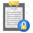 Document Lock Lock Read Only Icon