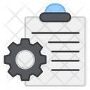 Document Setting Document Management Paper Setting Icon