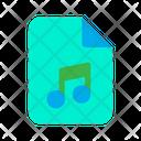 Audio File Music File Mp File Icon
