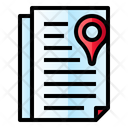 Document Pin Location Icon