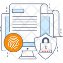 Document Protection File Security Encryption Icon