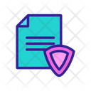 Document Contour Protection Icon
