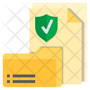 Document Protection Protected Data Shield Icon