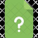 Document Question Faq Icon