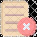 Document Remove Icon