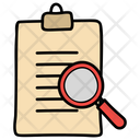 Document Review File Analysis Paper Search Icon