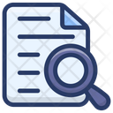 Document Review File Analysis Document Tracking Icon
