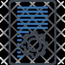 Document Setting Gear Icon