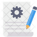 Document Setting Edit Project Report Document Icon