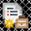 Document Setting Documents Suitcase Icon