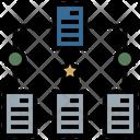 Document Sharing Flowchart Workflow Icon