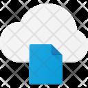 Document synchronize through cloud Icon