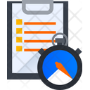 Document Time Task Time Task Deadline Icon