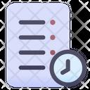 Document Time Task Time Task Deadline Icon